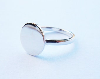 Full Circle Ring in Solid Sterling Silver-Make after order All Sizes