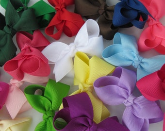 SALE 20% Off All Bow Sets - 2.5 Inch Hair Bows-Set of 15- You choose the colors