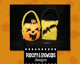 "Trick -or- Treat Bag Patterns for 18"" dolls"