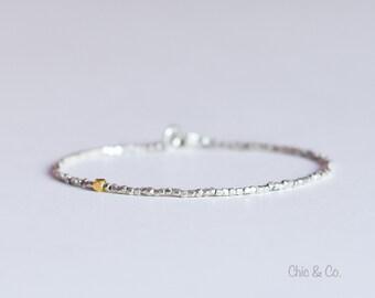 Fine Silver and Gold Vermeil Bracelet.