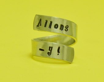 Allons-y Twist Ring -  Wrap Ring - Dr. Who - Doctor Who