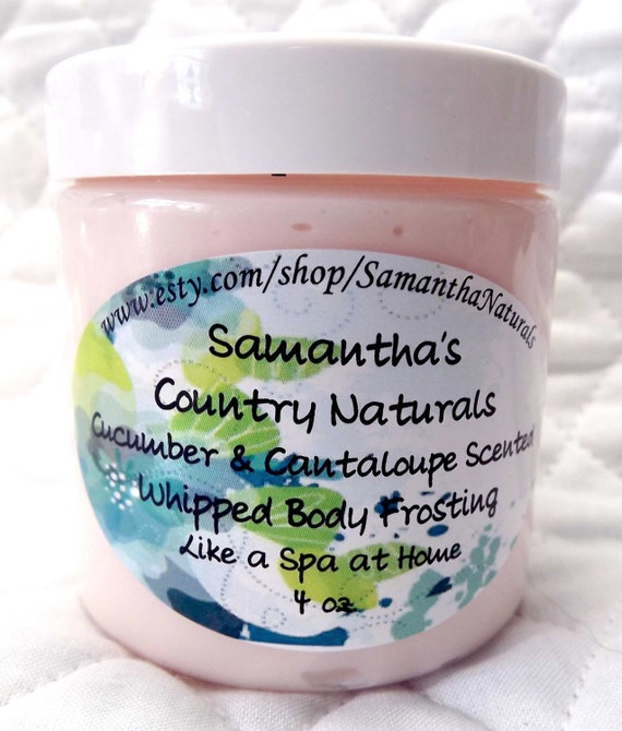 Cucumber and Cantaloupe Whipped Body Frosting