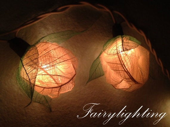 fairy string lights 35 white color rose party by fairylighting