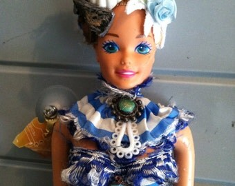 Jester - altered Barbie art doll