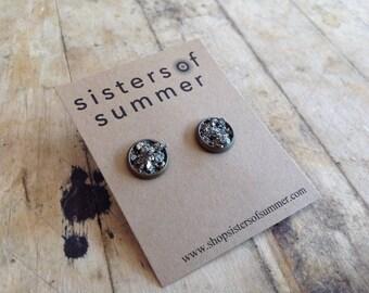 Pyrite Dust Stud Earrings