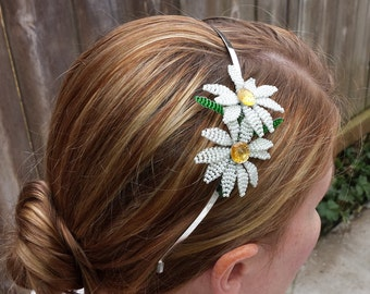 Button Daisy Headband