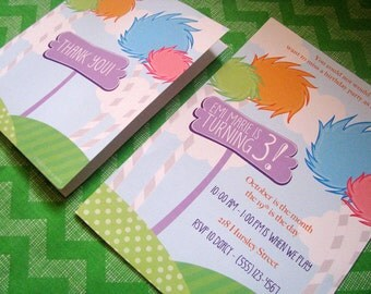Lorax Inspired Printable Birthday Invitation