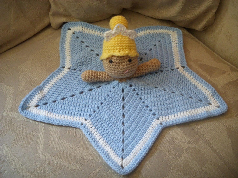 Crochet Pattern Princess Dress Blanket : Crochet Princess Security Blanket