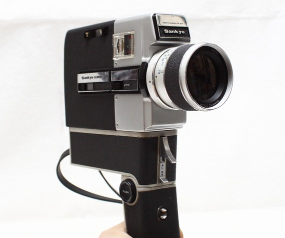 vintage sankyo super cm 400 super 8 cine movie camera with. Black Bedroom Furniture Sets. Home Design Ideas