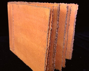 Copper Colored Hand Bound, Hand Inked, Watercolor Paper Travel Journal