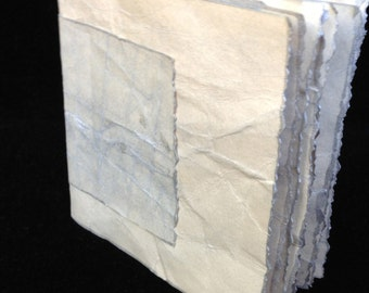 Silver Colored Hand Bound, Hand Inked Tag Journal