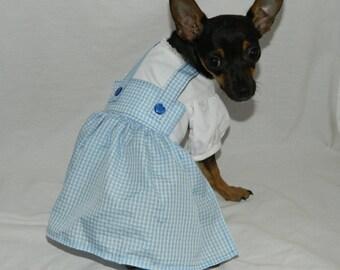 Dorothy Wizard of Oz dog costume XXS-M