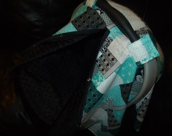 Carseat Canopy Minky Patchwork Blanket Cover car seat canopy car seat cover infant car seat