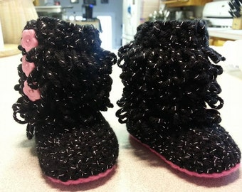 Ruffle Baby Boots