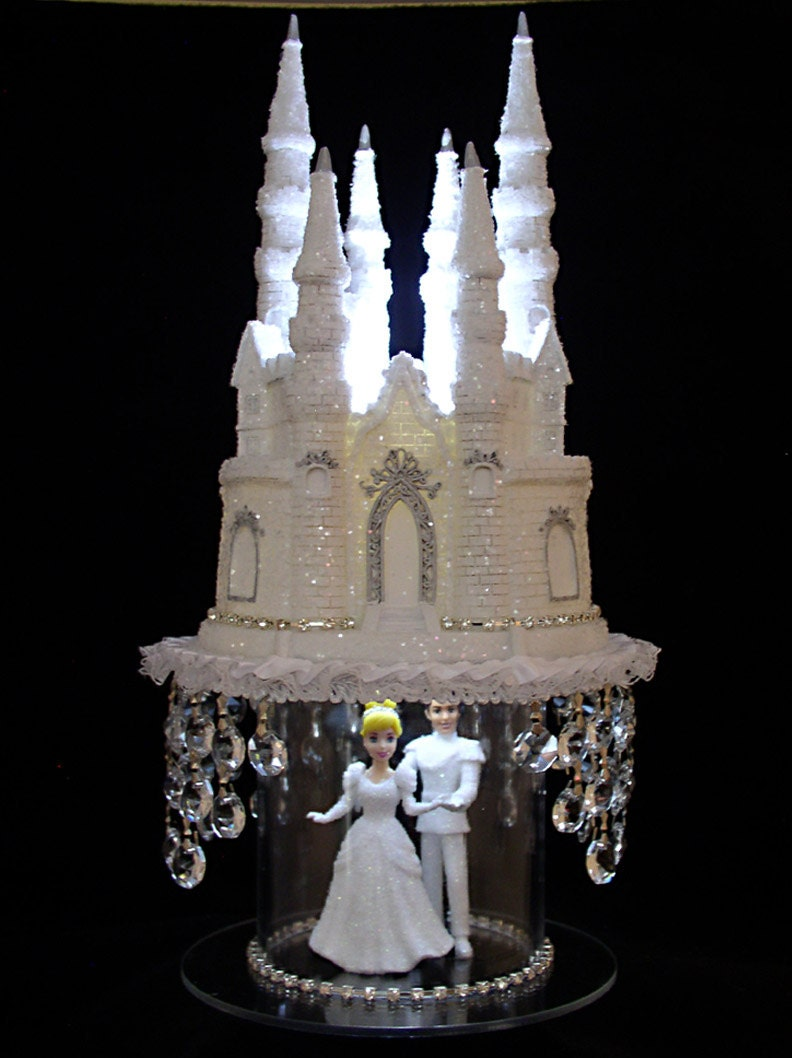 cinderella castle wedding cake toppers cinderella castle cake topper wedding fairytale princess 12854