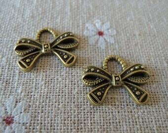 15Pcs  19X15mm antique bronze  bowknot pendant (A094)