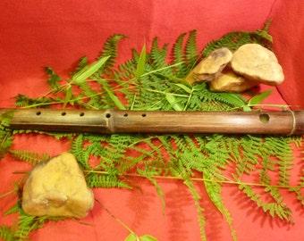 Handmade bamboo bansouri flute, key of F