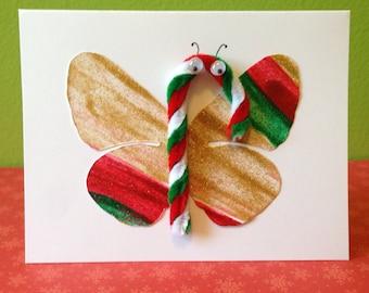 Christmas Butterfly Card A2