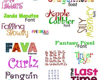 Special Buy 50 Of My Best Machine Embroidery Font Sets for the Crazy Low Price of 9.99 in VP3