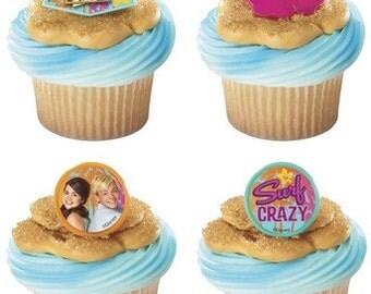 24 Teen Beach Movie Summer Fun Cupcake Rings Topper Cake Decor