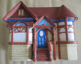 Planter Victorian House Plant Container Wall Pocket  Ceramic Trinket Box