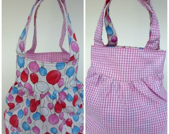 Reversible Puff Bag - PDF Instant Sewing Pattern Download - Easy
