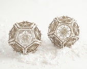Laser Cut, Sacred Geometry, DIY Model Kit makes Two Snowflake Dodecahedron Ornaments, Unique Gifts