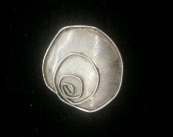 Vintage sterling silver flower brooch pin signed JOR
