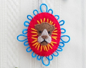 Aslan The Lion, the Witch and the Wardrobe Felt Brooch
