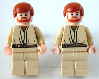 Star Wars Cufflinks - LEGO Star Wars Obi One Figure Cufflinks - Mens Cuff Links - Best Man Gift - Groomsmen Cufflinks - Geek Wedding