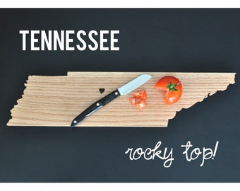 TENNESSEE State Shaped Cutting Board