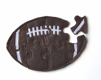 Football Puzzle - Toddler Puzzle - Kids Puzzles - Felt - Shape - Learning Toys - Travel -  Educational Toys