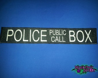 Police Public Call Box Sew on Patch