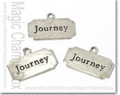 4pcs 17x27mm Antique Silver Tone Journey Brand DIY Necklace / Earring / Bracelet Pendant Charms J3925