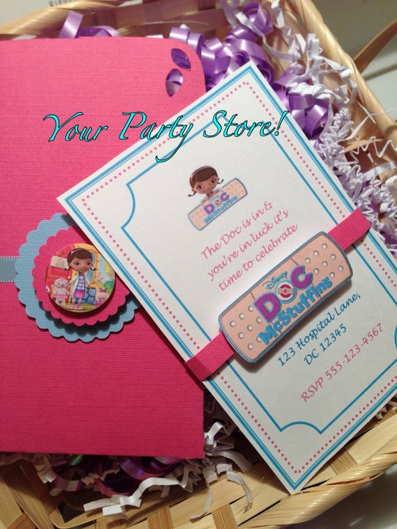 Doc McStuffins PARTY Invitations by PlanMyBash on Etsy
