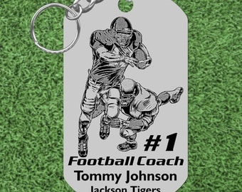 FOOTBALL Coach Gift, Personalized FREE with Names and Team, Custom Made