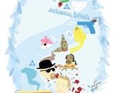 Breaking Bad illustration collage TV series art