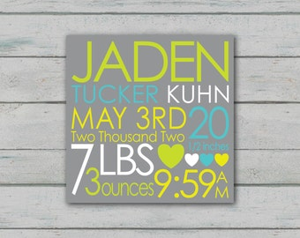 Boy Birth Announcement - DIGITAL FILE