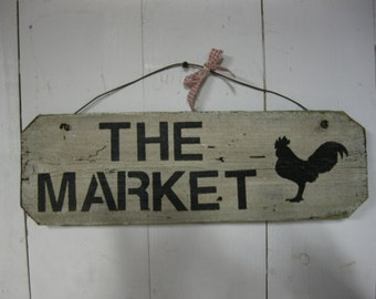 Sign: THE MARKET