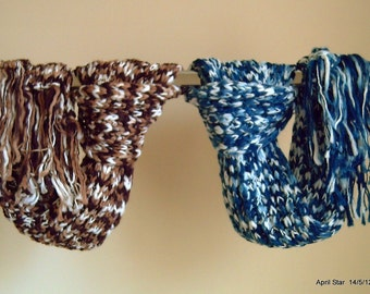 Hand knit scarf varigated yarn with FREE beanie various colours