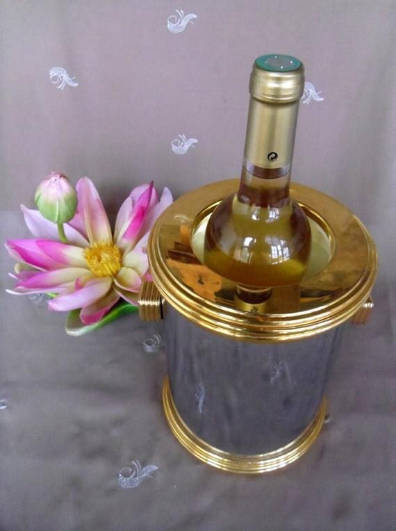 argent de glace seau refroidisseur champagne fran ais or. Black Bedroom Furniture Sets. Home Design Ideas