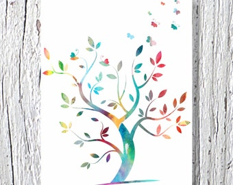 Tree Art Print, Kids Art Print, Kids Wall Decor, Nursery Wall Art Print, Kids Wall Art, Nursery Wall Decor, Children Poster