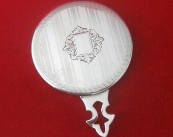 1920's Silver Purse Mirror