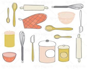 Baking Designs - Clip Art - Digital Graphic Set