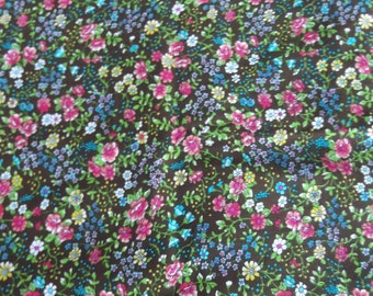 Fun and Funky 1970's Vintage Cotton Floral