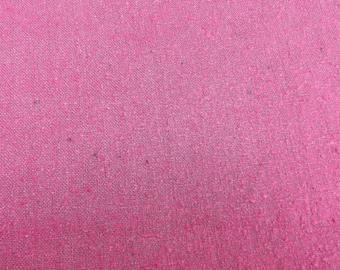 Vintage Magenta Silk Noil Fabric