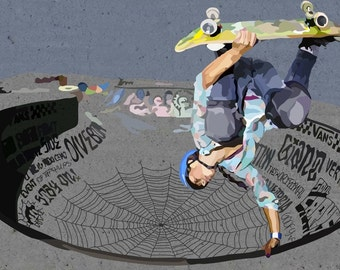 Lizzie Armanto Skater Handplant digital art print