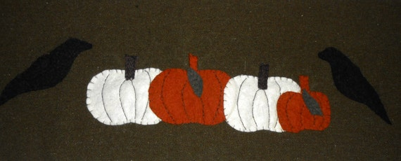 Table Runner, Primitive Table Runner, Fall Decor, Wool Table Runner ...