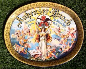 Vintage Anheuser Busch Cherub Beer Tray