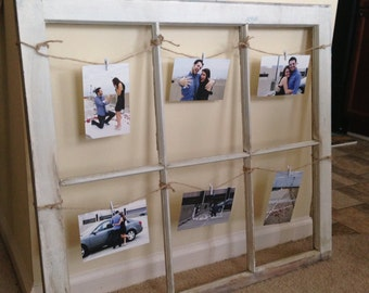 Old Distressed Wooden Window Frame | Picture Display